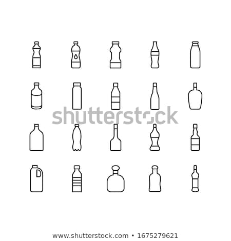 Line of glass bottles Stock photo © shutswis