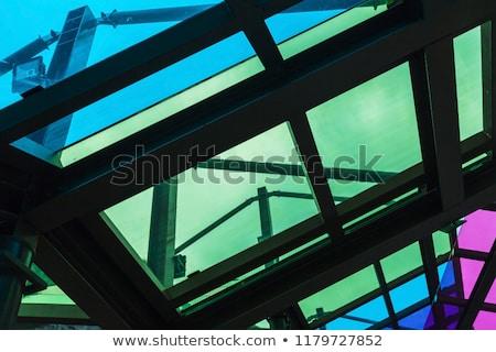 ウィンドウ ガラス パステル テクスチャ 建物 ストックフォト © tepic