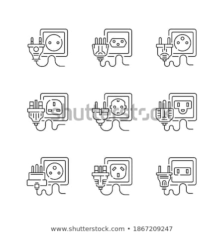 asian type electrical power outlet Stock photo © yuliang11