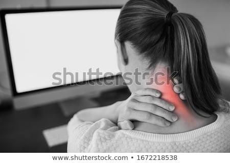 spalle · collo · massaggio · donna · mani - foto d'archivio © photography33