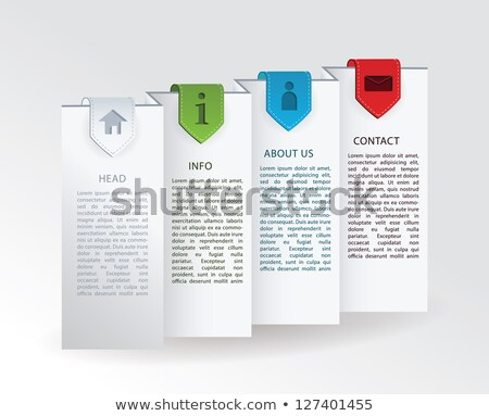 Vector label - folded paper with four colorful ribbon marks and  Stock photo © vitek38