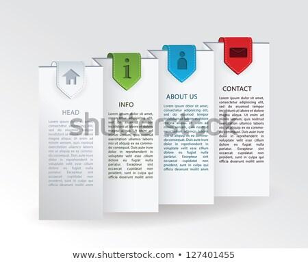 Vektor címke összehajtva papír négy színes Stock fotó © vitek38