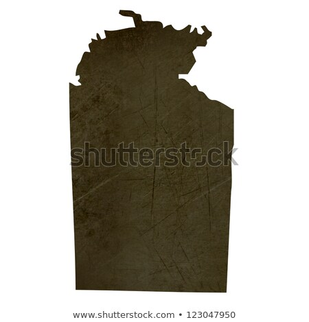 Stock photo: Dark silhouetted map of Northern Territory