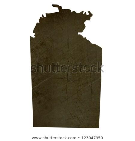 Dark silhouetted map of Northern Territory stock photo © speedfighter