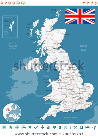 Great Britain Road Flag Stock photo © Lightsource