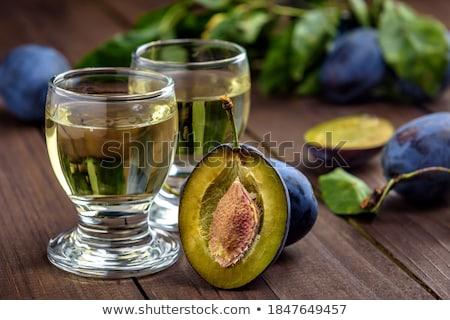 Szilva brandy friss ízletes gyümölcs asztal Stock fotó © stevanovicigor