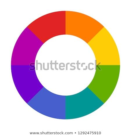 Turquesa magenta ícones dois colorido Foto stock © HypnoCreative