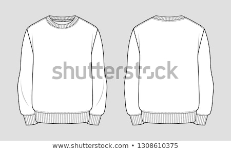 Basic Sweater template vector illustration. Stock photo © Bytedust