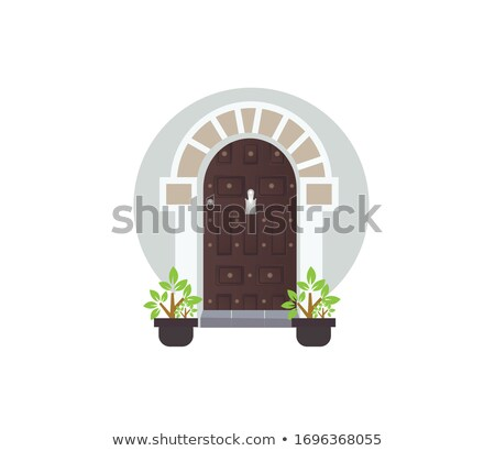 traditional wooden door in sanaa yemen stock photo © travelphotography