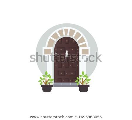 traditional wooden door in sanaa yemen stock photo © travelphotography
