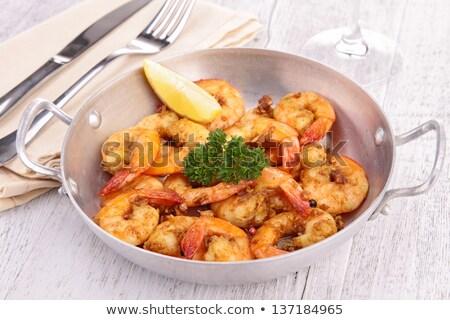 cozinhado · camarão · fundo · cozinhar · cozinhar · almoço - foto stock © M-studio