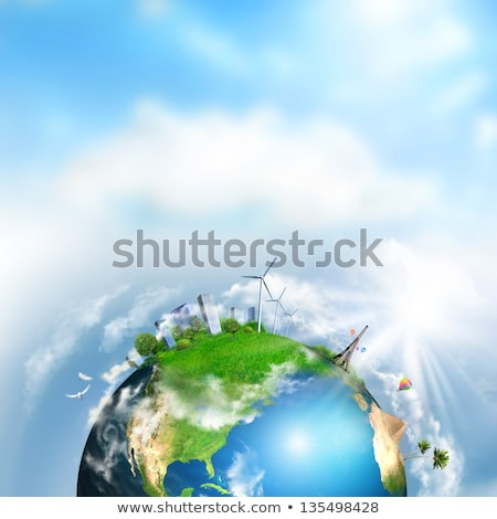 earth with different elements on its surface day time stock photo © hasloo