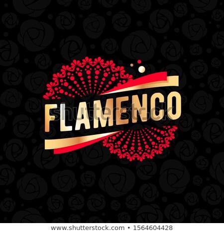 Espanhol flamenco festa cartão mulher flor Foto stock © carodi
