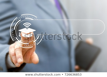 Blauw · certificaat · prestatie · knop · toetsenbord · moderne - stockfoto © tashatuvango