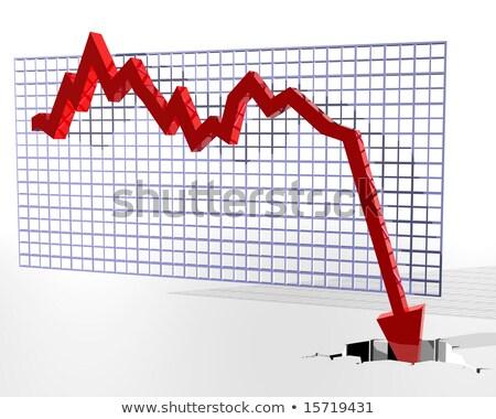 Illustration of a graph where the figures suddenly fall through  Stock photo © dacasdo