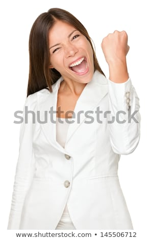Energetic Young Woman Clenching Fists stock photo © Maridav