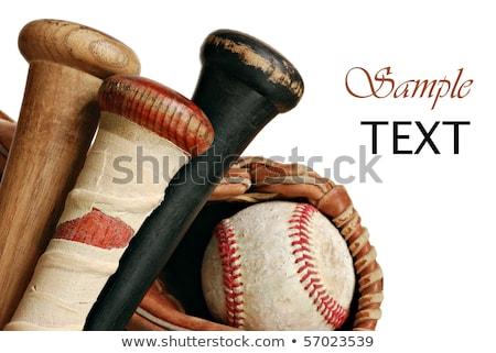 野球用バット マクロ スポーツ 木材 背景 ストックフォト © 33ft