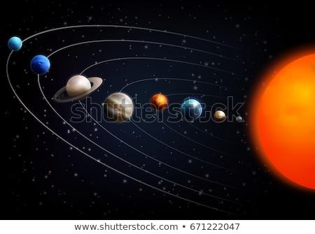 Sistemul solar planete schema lumina lume fundal Imagine de stoc © LoopAll