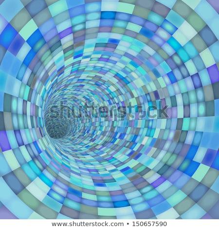 抽象的な · 行 · サークル · 青 · 光 · ウェブ - ストックフォト © melvin07