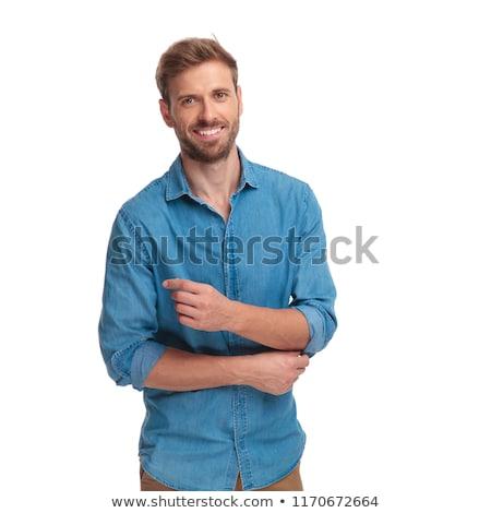 Casuale uomo gomito giovane guardando Foto d'archivio © feedough