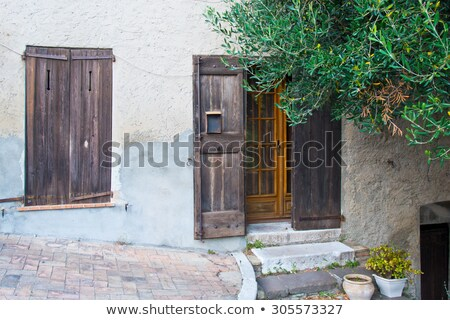 Medieval street in Southern France Stock photo © Bertl123