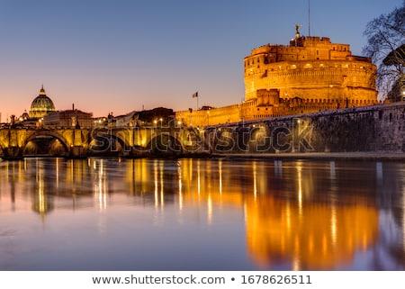 Castel S. Angelo and the tevere river Stock photo © SecretSilent