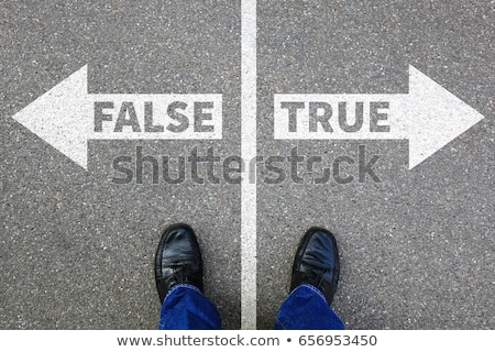 False or Truth. Concept of Choice. Stock photo © tashatuvango