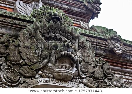 Foto stock: Pedra · templo · guardião · bali · estátua