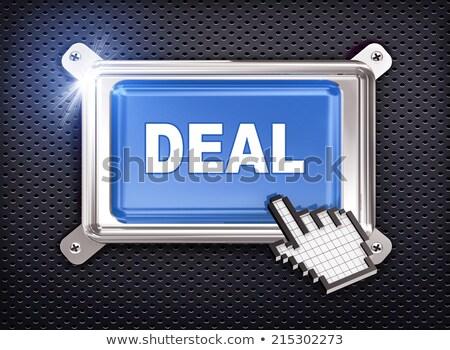 Nagy nyereség gomb kéz kurzor üzlet Stock fotó © tashatuvango