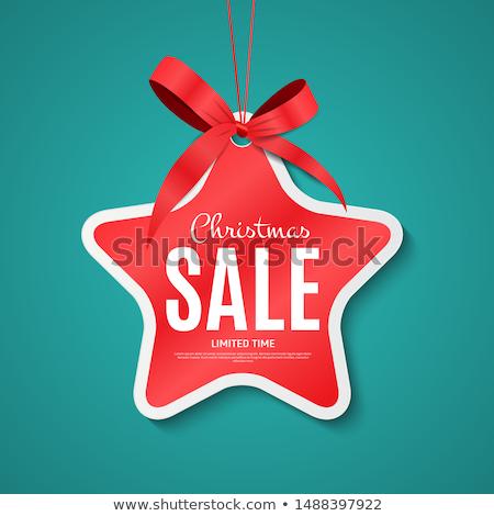 christmas sale label stock photo © burakowski