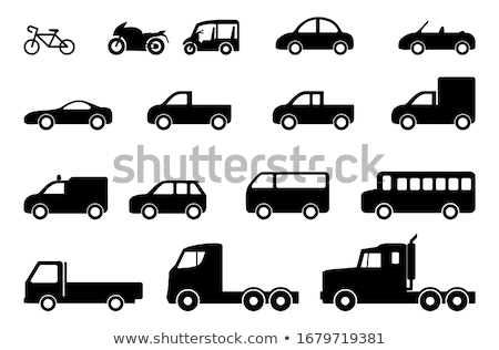 Set of truck black icons Stock photo © Ecelop
