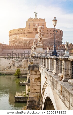 mármol · estatua · ángel · cruz · puente · Roma - foto stock © alessandro0770