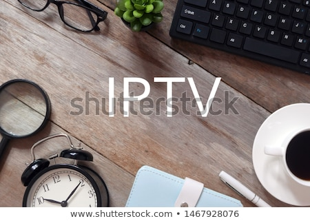 IPTV Concept - Magnifying Glass. Stock photo © tashatuvango