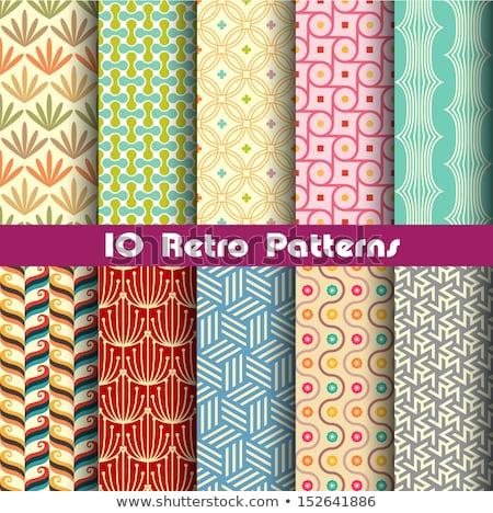 set of two seamless patterns stock photo © fixer00