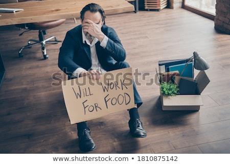 Werk voedsel man baan werkloos Stockfoto © stevanovicigor