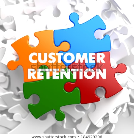 Customer Retention on Multicolor Puzzle. Stock photo © tashatuvango