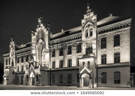 фонарь ночь город одиноко дороги улице Сток-фото © nizhava1956