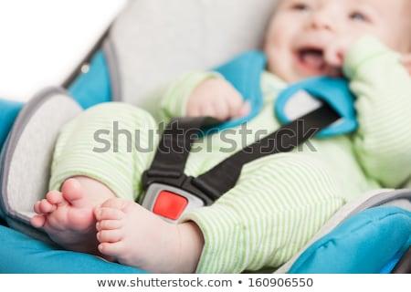 kicsi · baba · fiú · alszik · autó · ülés - stock fotó © anmalkov