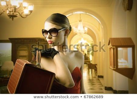 mooie · blond · vrouw · luxe · interieur · sexy - stockfoto © Nejron