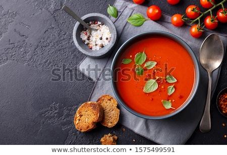 tomaat · salade · basilicum · voedsel · diner · maaltijd - stockfoto © m-studio