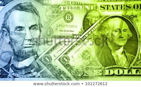 Stock Macro Photo of U.S. Currency Stock photo © dgilder