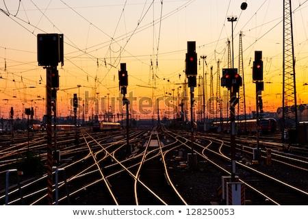 鉄道 日光 反射 太陽 列車 ストックフォト © skylight