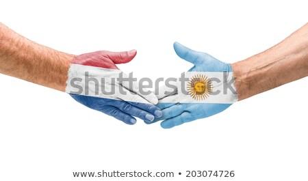 banderą · Niderlandy · słup · wiatr · biały - zdjęcia stock © zerbor
