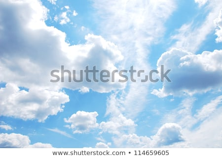 Blue sky with clouds in sun windy day Stock photo © BSANI