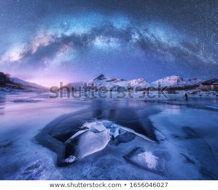 sunset at arctic coast stock photo © arrxxx