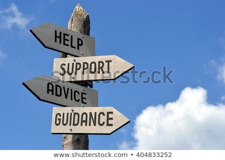 Foto d'archivio: Advice Help Support