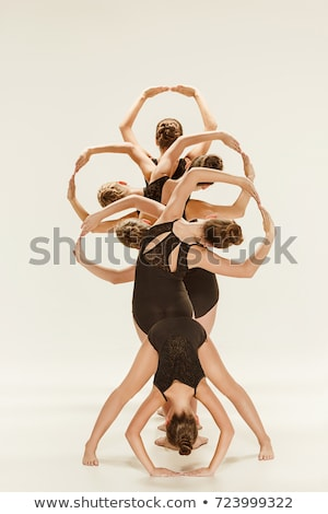 Attractive modern ballet dancer Stock photo © elwynn