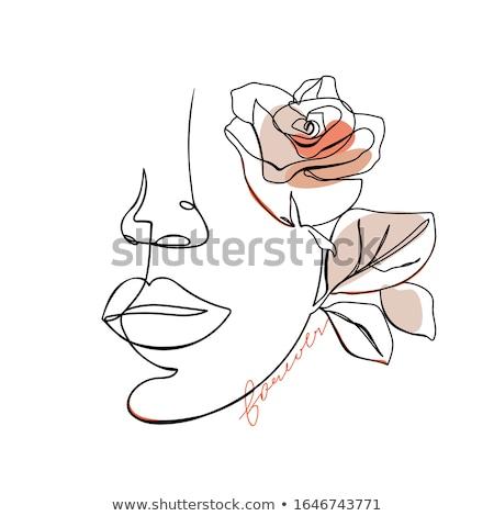 魅力 永遠 美しい 少女 顔 デザイン ストックフォト © ussr