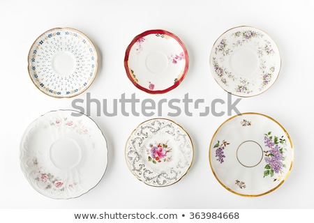 Vintage plaque floral blanche Photo stock © RedDaxLuma