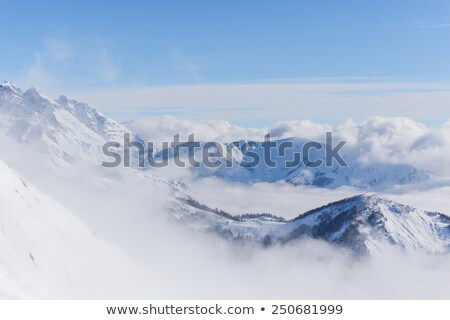 Off-piste slope and blue sky with clouds Stock photo © BSANI